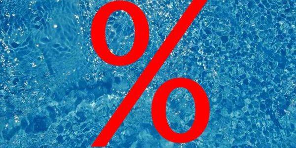Rabatt für Schwimmbad-                     Pflegeprodukte